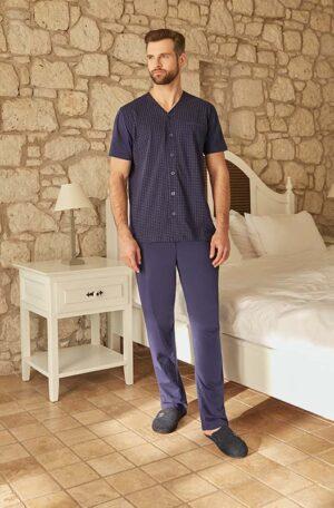 eros-ese26010-pamuk-gomlek-desenli-pijama-takimi